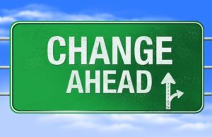 Change Ahead exit sign
