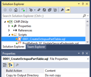 Visual Studio Solution Explorer, Build Action is Content