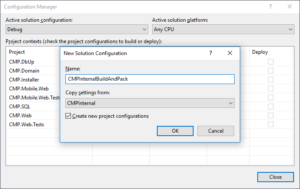 Creating the New Build Configuration